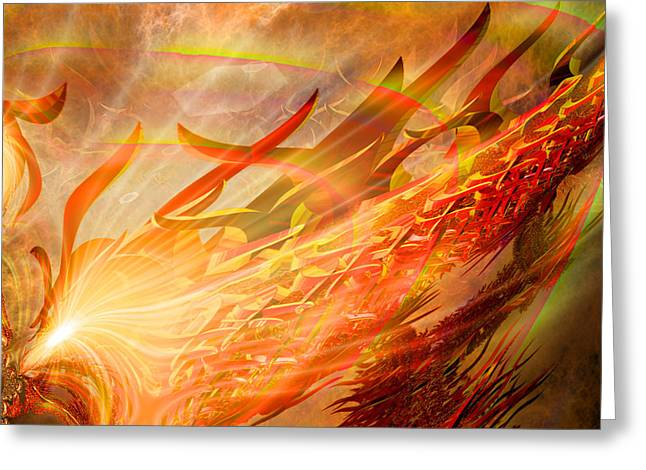 Hypnotherapy Greeting Cards - Phoenix Greeting Card by Michael Durst