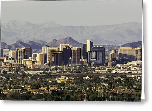 Civilization Greeting Cards - Phoenix Panorama Greeting Card by Scott Carlin