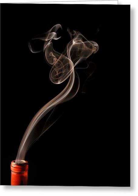 Smoke Art Greeting Cards - Phoenix Rising in Smoke Greeting Card by Bryan Steffy