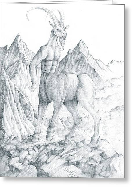 Fantasy Creature Greeting Cards - Pholus the Centauras Greeting Card by Curtiss Shaffer