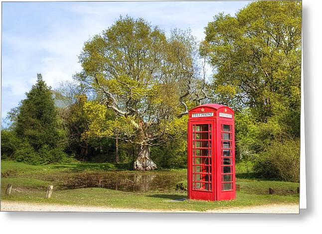 Telephone Booth Greeting Cards - phone box in England Greeting Card by Joana Kruse