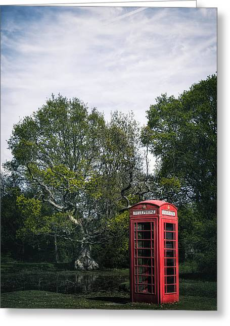 Telephone Booth Greeting Cards - Phone Box  Greeting Card by Joana Kruse