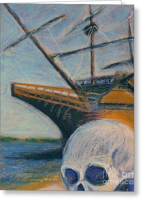 Galleon Pastels Greeting Cards - Photo Bomb Greeting Card by Marie  Marfia