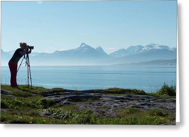 Photograph In Norway Greeting Card by Tamara Sushko