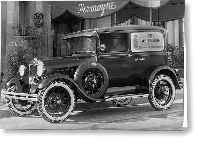 Photographer's 1928 Truck Greeting Card by Underwood Archives