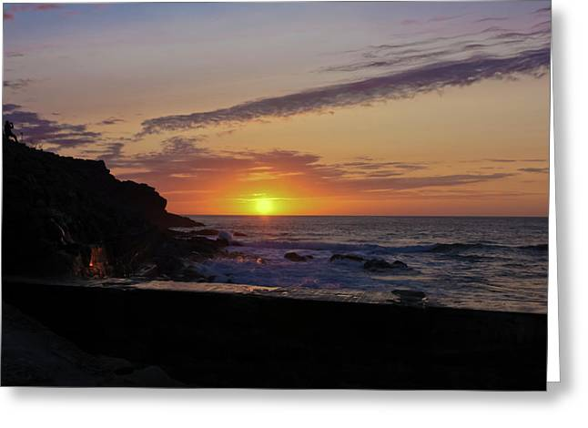 Sennen Greeting Cards - Photographers Sunset Greeting Card by Terri  Waters