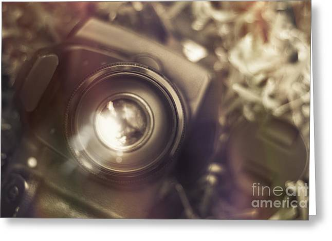 Reflex Greeting Cards - Photographic lens reflections Greeting Card by Ryan Jorgensen