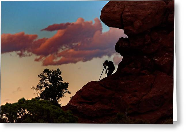 Monolith Photographs Greeting Cards - Photographing The Landscape Greeting Card by Rick Berk