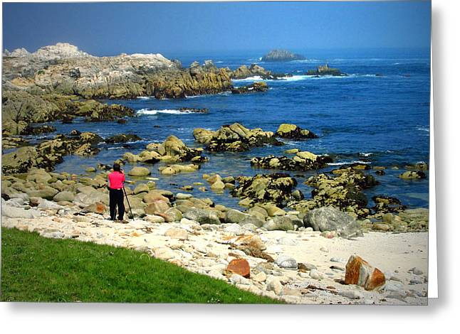Ocean Photography Greeting Cards - Photographing The Photographer Greeting Card by Joyce Dickens