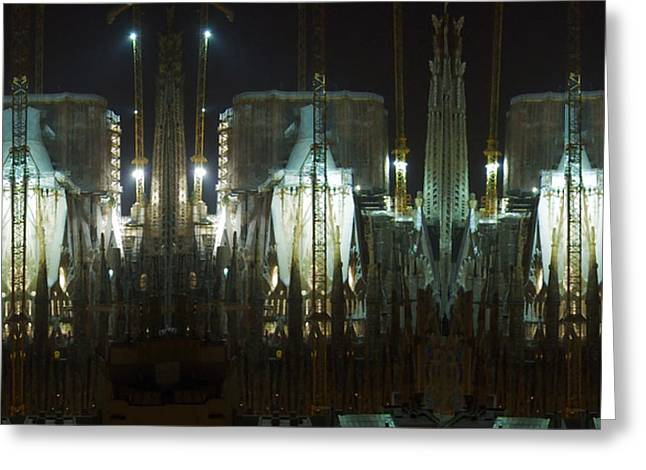 Historical Images Greeting Cards - Photography Lights n Shades Sagrada Temple download for personal commercial projects bulk printing Greeting Card by Navin Joshi