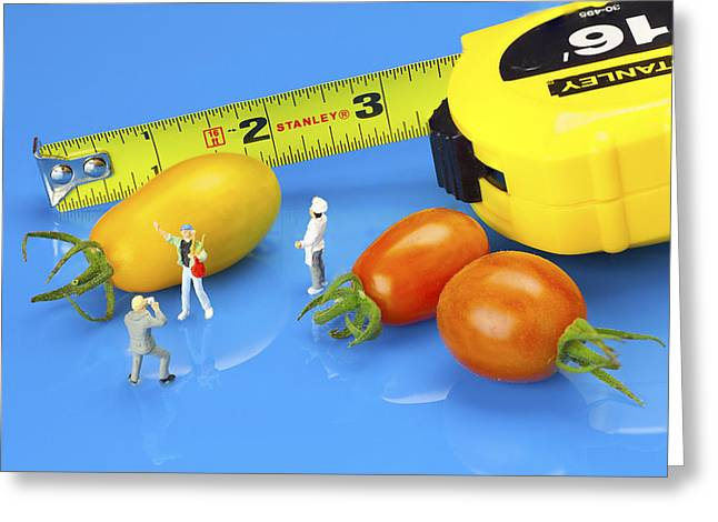 Photography Of Tomatoes Little People On Food Greeting Card by Paul Ge
