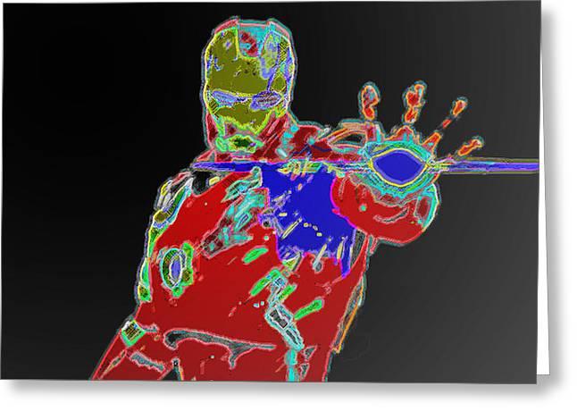 Photon Blaster Greeting Card by Ryan Crane
