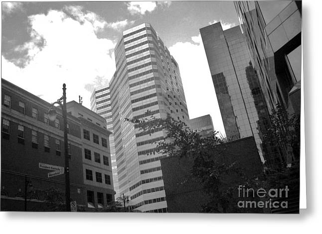 Streets Of Montreal Greeting Cards - Photos of Montreal Mansfield St Greeting Card by Reb Frost