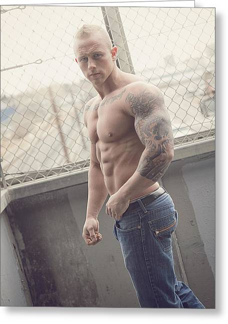 Tattoo Flash Photographs Greeting Cards - Photoshoot Greeting Card by Marcin and Dawid Witukiewicz