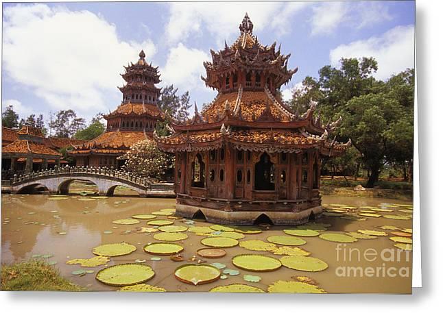 Phra Kaew Pavillion Greeting Card by Bill Brennan - Printscapes