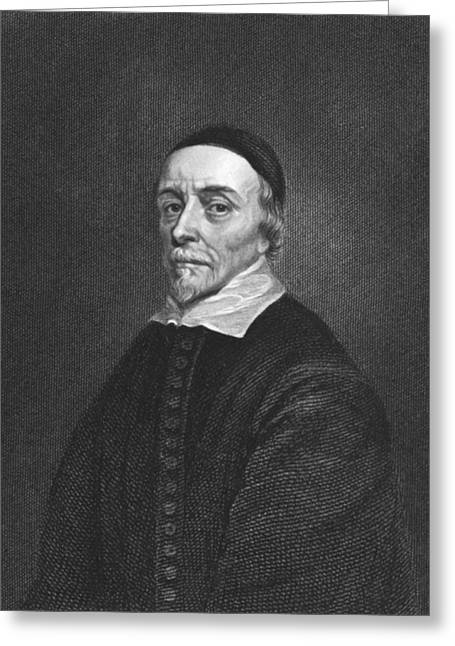 Skullcap Greeting Cards - Physician William Harvey Greeting Card by Underwood Archives
