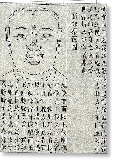 Physiognomy Diagnosis Chart, 1817 Greeting Card by Wellcome Images