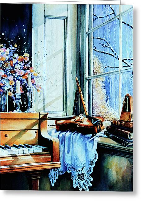 Piano In The Sun Greeting Card by Hanne Lore Koehler