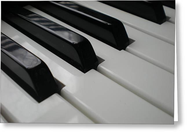Piano Greeting Card by Jennifer Wartsky