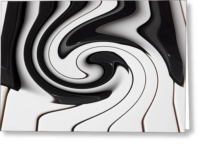 Color Bending Greeting Cards - Piano keys abstract Greeting Card by Garry Gay