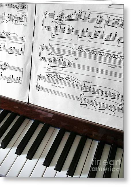 Keyboard Photographs Greeting Cards - Piano Keys Greeting Card by Carlos Caetano