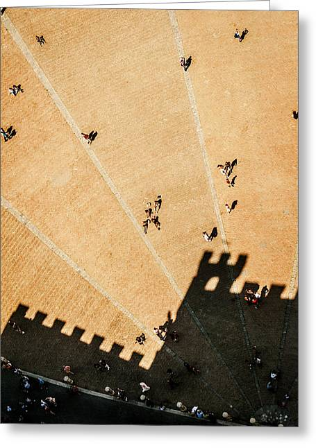 Sienna Italy Greeting Cards - Piazza del Campo a Siena Greeting Card by Roberto Pastrovicchio