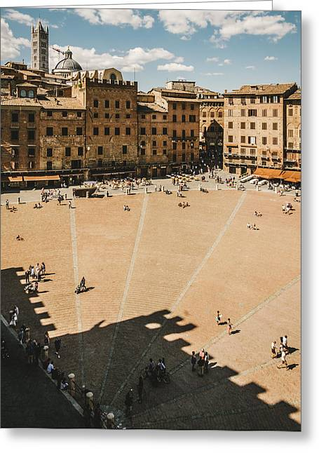 Sienna Italy Greeting Cards - Piazza del Campo Greeting Card by Roberto Pastrovicchio