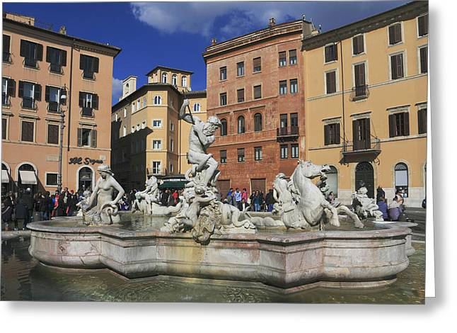 Historic Site Greeting Cards - Piazza Navona Rome Italy Greeting Card by Ivan Pendjakov