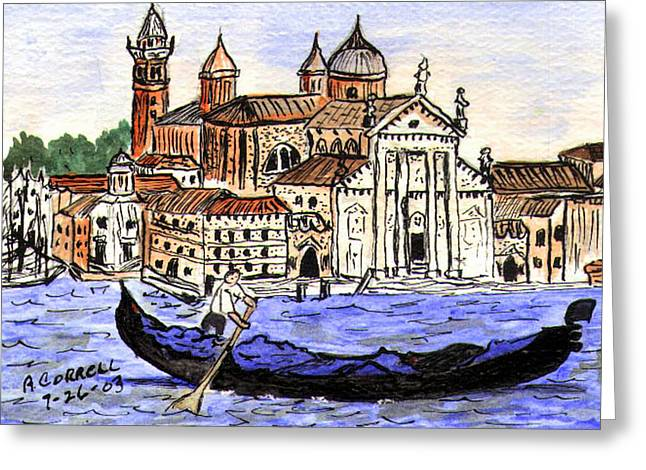 Piazzo San Marco Greeting Cards - Piazzo San Marco Venice Italy Greeting Card by Arlene  Wright-Correll