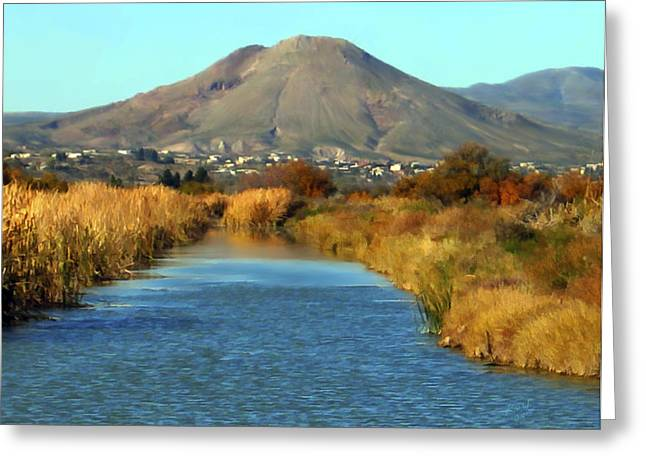 Las Cruces Landscape Greeting Cards - Picacho Peak Greeting Card by Kurt Van Wagner