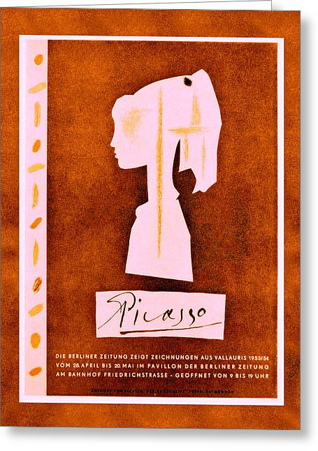 Picasso Exhibition Poster 6 Greeting Card by Andrew Fare