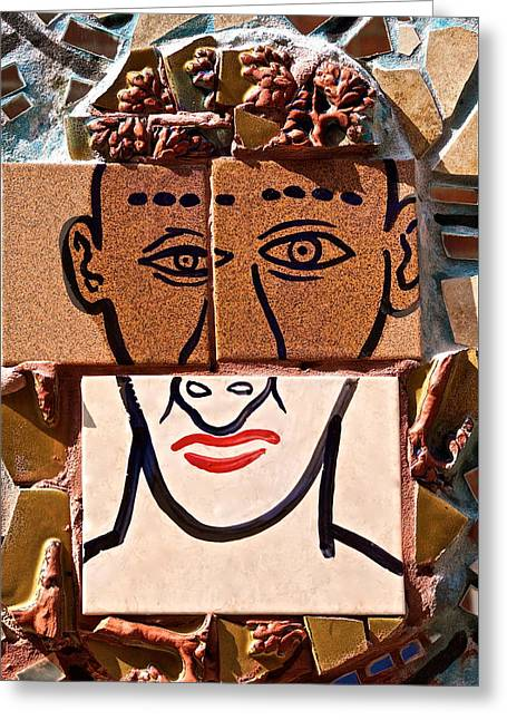 Pablo Greeting Cards - Picasso Head Greeting Card by Ira Shander