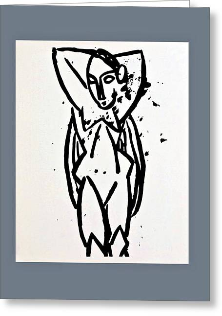 Pablo Picasso Greeting Cards - Picasso Nude with arms Greeting Card by Movie Poster Prints