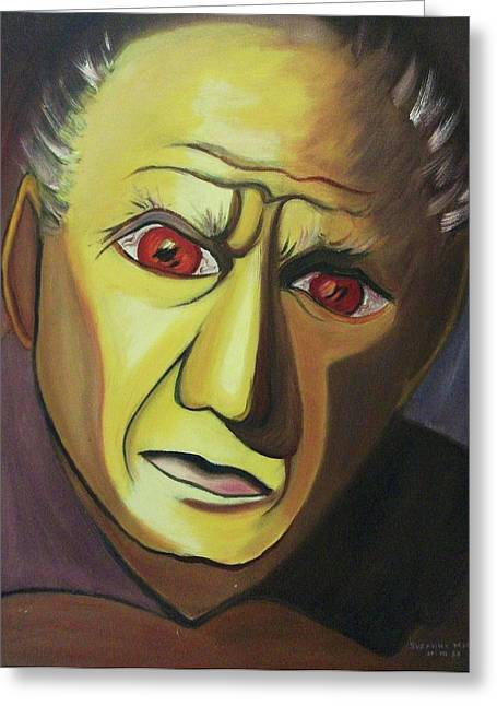 Pablo Picasso Greeting Cards - Picasso Greeting Card by Suzanne  Marie Leclair