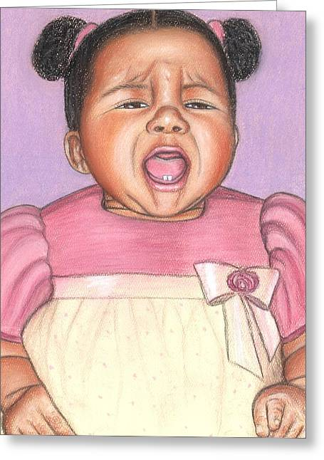 African-americans Pastels Greeting Cards - Pick Me Up Greeting Card by Paula  Parker