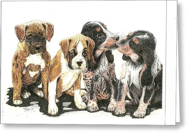 Pick Of The Litter Greeting Card by Bill Hubbard
