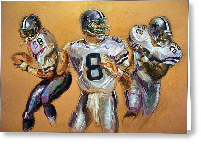 Wide Receiver Mixed Media Greeting Cards - Pick your Poison...The Glory Days Greeting Card by Tommy  Winn