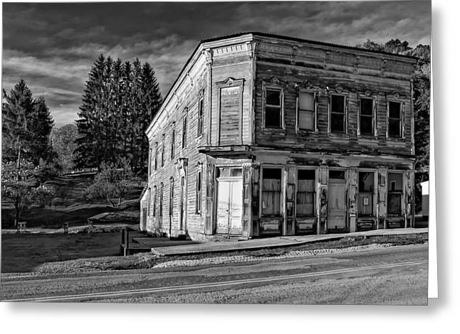 Wv Greeting Cards - Pickens WV monochrome Greeting Card by Steve Harrington