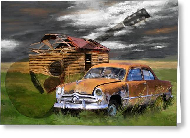 Pickin Out Yesterday Greeting Card by Susan Kinney