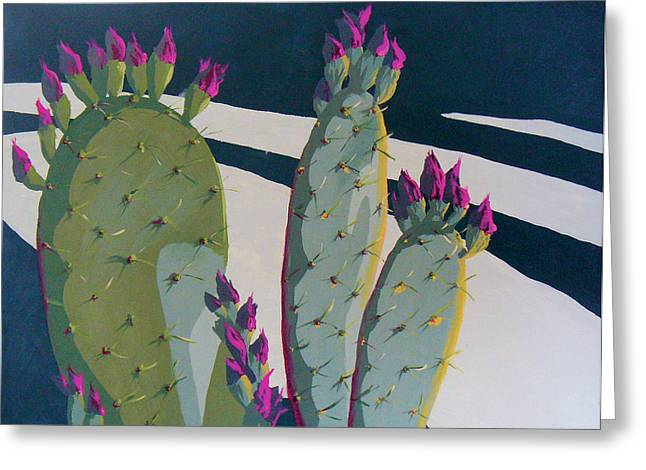 Cactus Flowers Greeting Cards - Picky Picky Picky Too Greeting Card by Sandy Tracey