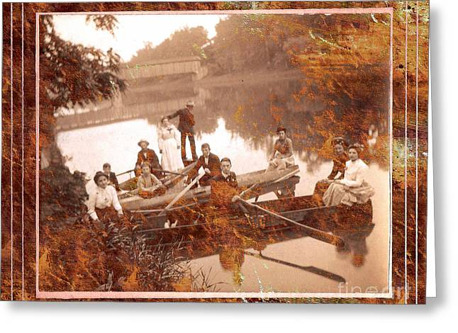 Sunday Picnic Greeting Cards - Picnic At Rivers Edge  Greeting Card by T Anderson