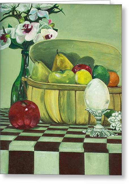 Table Cloth Greeting Cards - Picnic Greeting Card by Jane Autry