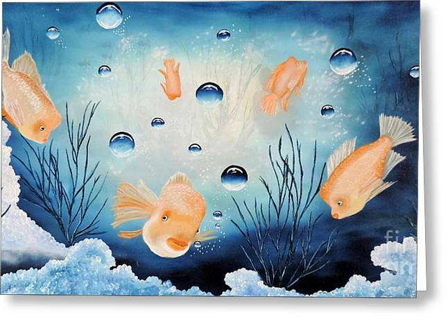 Print On Canvas Greeting Cards - Picses Greeting Card by Dianna Lewis