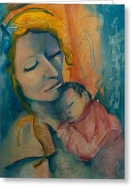 With Love Paintings Greeting Cards - Picture of Love Greeting Card by Mary DuCharme