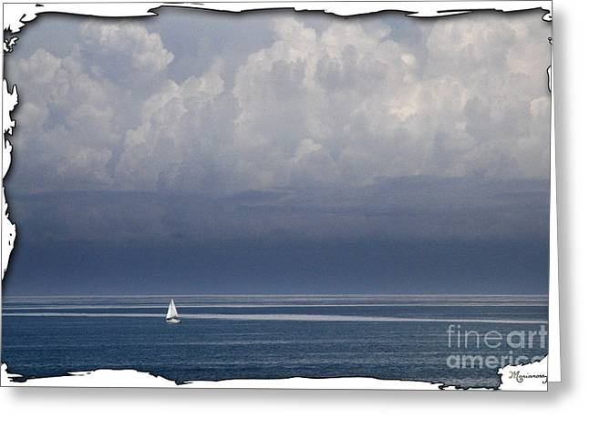 Blue Sailboats Greeting Cards - Picture Perfect Greeting Card by Mariarosa Rockefeller