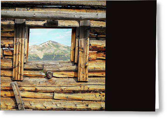 Leadville Greeting Cards - Picture Window Greeting Card by Eric Glaser