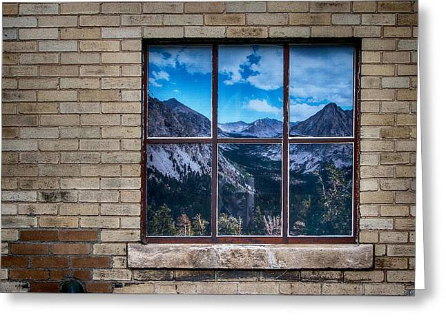Picture Window Greeting Card by John Haldane