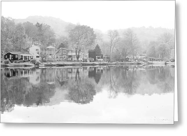 Picturesque Autumn In Bw Greeting Card by Karol Livote