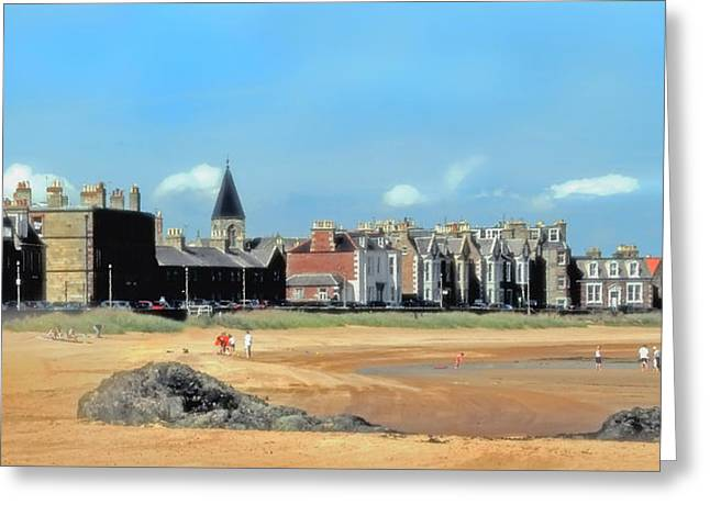 Seaside Digital Greeting Cards - Picturesque North Berwick Scotland Greeting Card by Lyle  Huisken