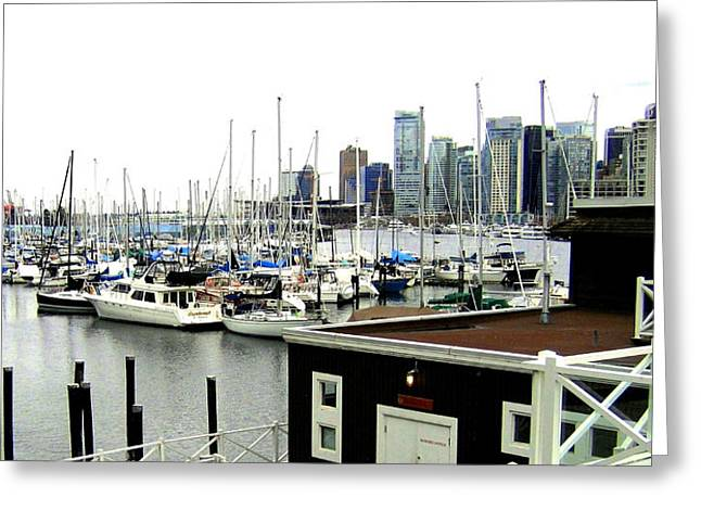 Picturesque Vancouver Harbor Greeting Card by Will Borden